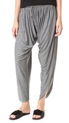 Haute Hippie Draped Jersey Harem Pants Charcoal Heather Grey