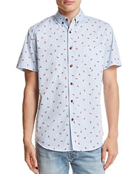 Sovereign Code Crystal Cove Lobster Button Down Shirt Light Pastel Blue