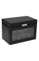 Men's Wolf 'Viceroy' Double Watch Winder And Storage Space Black