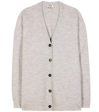 Acne Studios Mesi Oversized Wool Cardigan Grey