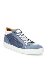 Android Omega Distressed Denim Sneakers Light Denim