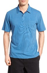 Quiksilver Men's Waterman Collection Strolo 6 Pocket Polo Wave