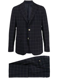Eleventy Single Breasted Window Pane Check Suit 60