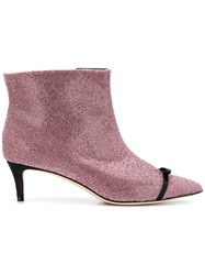 Marco De Vincenzo Pointed Boots Pink And Purple