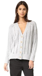 3.1 Phillip Lim Pointelle Cardigan Grey Melange
