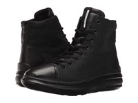 Ecco Soft 3 High Top Black Black Women's Lace Up Boots