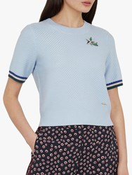a9fe88d01f85bd Ted Baker Colour By Numbers Ilyra Shooting Star Crop Jumper Light Blue