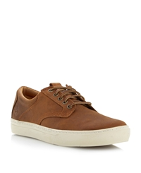 Sporty Cupsole Gibson Lace Up Shoes Tan