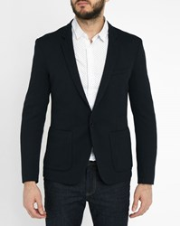 Ikks Navy Honeycomb Weave Blazer Blue