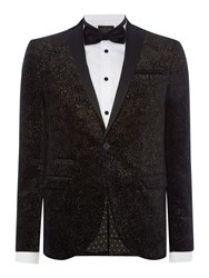 Label Lab Coxley Blazer With Contrast Peak Lapel Black