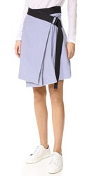 Rag And Bone Lenna Skirt Blue Stripe