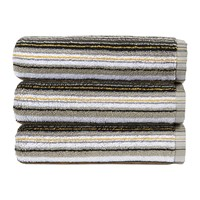 Christy Barcode Stripe Towel Ochre Multi