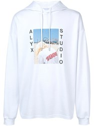 Alyx Photo Print Hoodie White