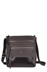 Lodis 'Wanda' Nylon And Leather Crossbody Bag Grey