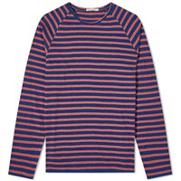 Nudie Jeans Otto Breton Stripe Long Sleeve Tee