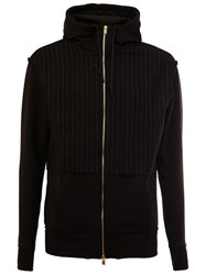 Aganovich Funnel Neck Zipped Hoodie Black