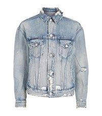 Denim And Supply Ralph Lauren Distressed Jacket Female Blue