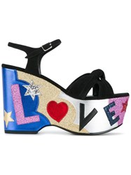 Saint Laurent Candy 50 Love Sandals Black