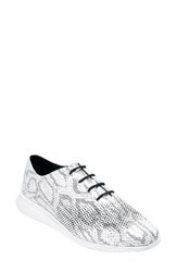 Cole Haan Women's '2.Zerogrand' Laser Oxford Black White Print Leather