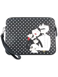 Dolce And Gabbana Dg Family Patch Clutch Black