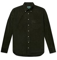 Gitman Brothers Vintage Button Down Collar Cotton Corduroy Shirt Green