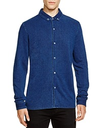 Native Youth Pique Knit Slim Fit Button Down Shirt