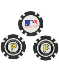 Team Golf Pittsburgh Pirates 3 Pack Poker Chip Markers Black