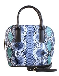 Christian Siriano Marlene Vegan Leather Dome Bag Stone Blue