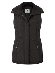 Dash Lightweight Gilet Rib Collar Black