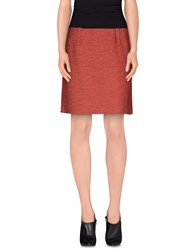 Strenesse Blue Skirts Knee Length Skirts Women Red