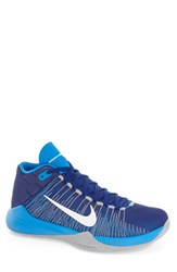 Nike Men's 'Zoom Ascention' High Top Basketball Shoe Deep Royal Blue White Blue