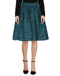 Io Couture Knee Length Skirts Green