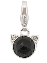 Karl Lagerfeld Rose Cut Choupette Necklace Charm Silver