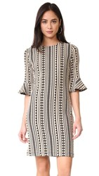 Shoshanna Bluxome Dress Flax Jet