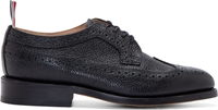 Thom Browne Black Pebbled Leather Longwing Brogues
