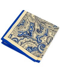 Club Room Men's Paisley Pocket Square Only At Macy's Yellow