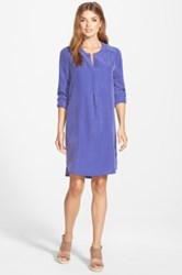 Pleione Split Neck Shirtdress Blue
