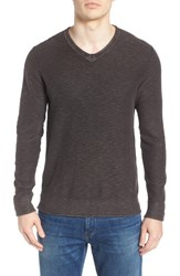 Lucky Brand Men's Slub V Neck Sweater