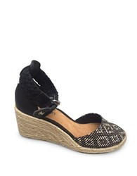 Sperry Valencia Espadrille Wedges Black