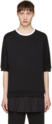 3.1 Phillip Lim Black Short Sleeve Pullover