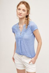 Anthropologie Aria Linen Blouse Lavender