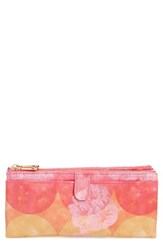 Hobo Women's 'Taylor' Glazed Leather Wallet Yellow Sunrise Floral