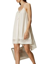 Karen Millen Lace Up Strappy Summer Dress White
