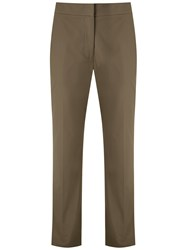 Egrey Cotton Straight Trousers Green