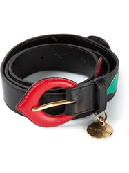 Yves Saint Laurent Vintage Flower And Leaf Belt Black