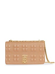 Burberry Small Quilted Check Lambskin Lola Bag Neutrals