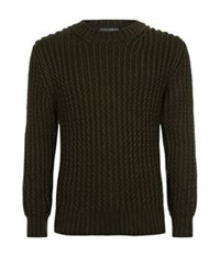 Dolce And Gabbana Ribbed Cashmere Sweater Green
