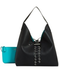 Guess Bobbi Inside Out Hobo Black Aqua