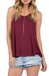 Volcom Women's Twisted Time Tank Merlot