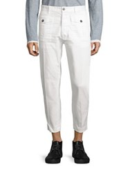 Dsquared Cropped Cotton Cargo Pants White